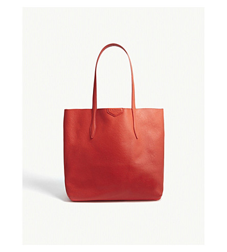 LK BENNETT Peggy leather tote bag (Ora-geranium