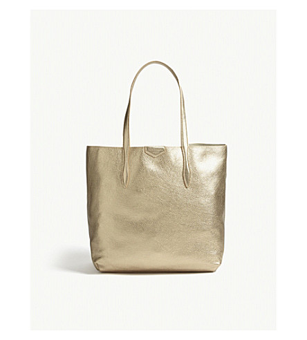 LK BENNETT Peggy leather tote (Gol-gold