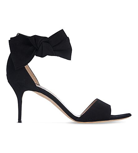 LK BENNETT Agata bow-embellished leather sandals (Bla-black
