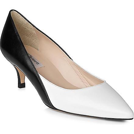 LK BENNETT Aimee leather courts (Bla-white
