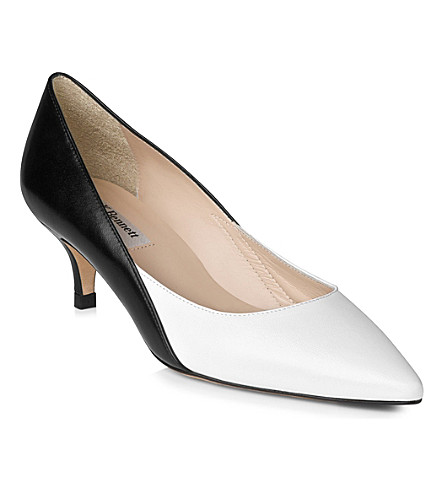LK BENNETT Aimee leather courts (Bla-white