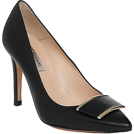 LK BENNETT Aleshia leather courts (Bla-black