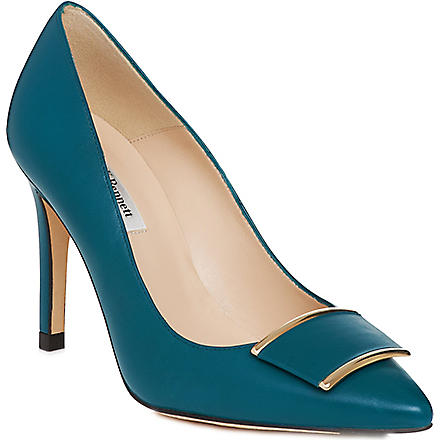 LK BENNETT Aleshia leather courts (Blu-peacock