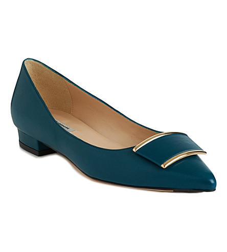 LK BENNETT Amelia leather pumps (Blu-peacock