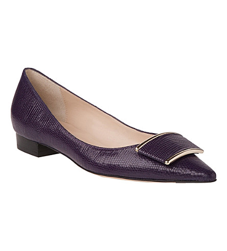 LK BENNETT Amelia leather pumps (Pur-dark violet