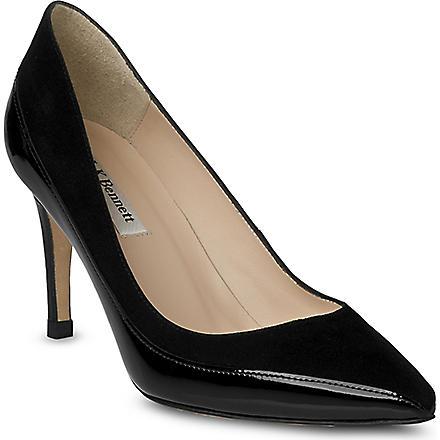 LK BENNETT Aspen pointed court shoes (Bla-black