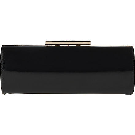 LK BENNETT Avona leather clutch (Bla-black
