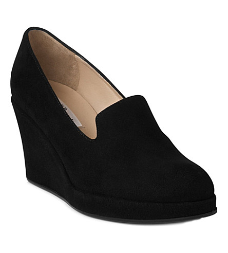 LK BENNETT Beryl suede wedge slippers (Bla-black