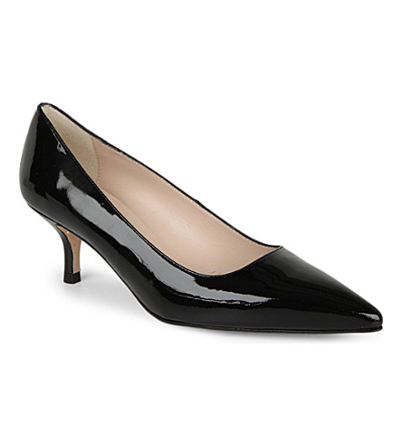 LK BENNETT Bury patent leather courts (Black