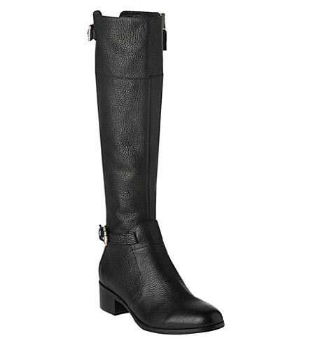 LK BENNETT Carole leather riding boots (Bla-black