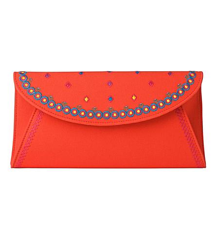 LK BENNETT Cici envelope clutch (Red-poinciana