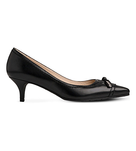 LK BENNETT Clara leather courts (Bla-black