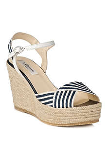 LK BENNETT Connie espadrille wedge shoes
