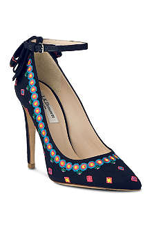 LK BENNETT Corinne embroidered court shoes