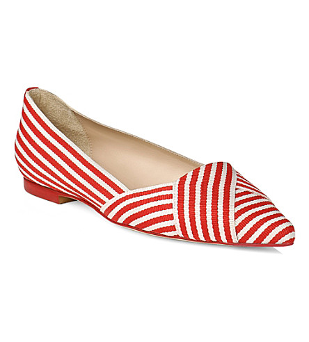 LK BENNETT Dale pointed toe flats (Pin-raspberrywhite