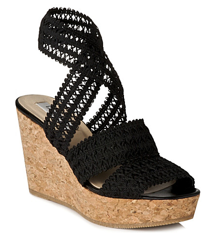 LK BENNETT Eimear cork wedge sandals (Bla-black
