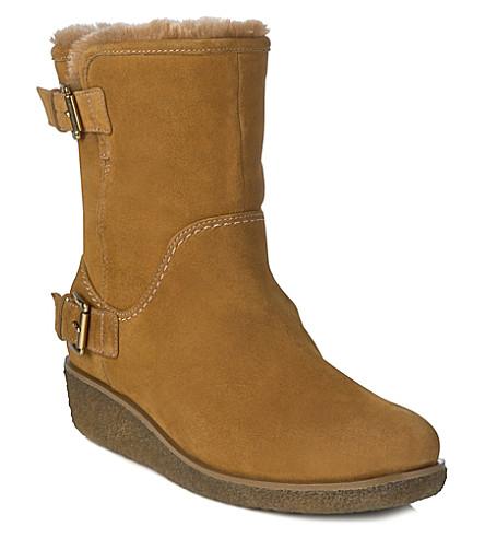 LK BENNETT Elisa suede boots (Tan-tan