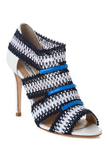LK BENNETT Eloise crochet and leather sandals