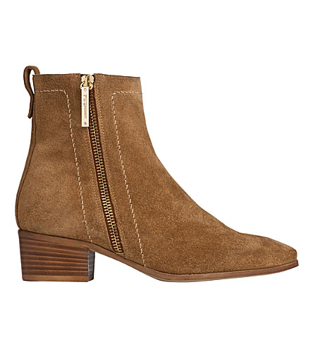 LK BENNETT Fenick suede ankle boots (Bro-tobacco