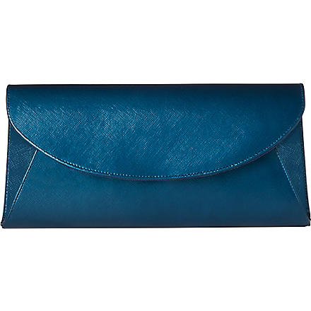 LK BENNETT Flo saffiano leather envelope clutch (Blu-royal