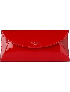 LK BENNETT Flo saffiano patent leather clutch