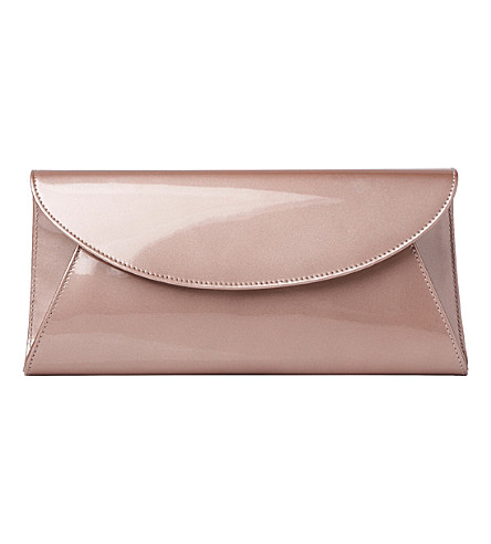 LK BENNETT Flo leather envelope clutch bag (Cre-champagne