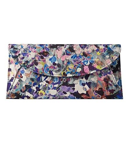 LK BENNETT Aurora floral print clutch (Pri-blue