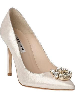 LK BENNETT Floey Embellished Suede Court Shoes
