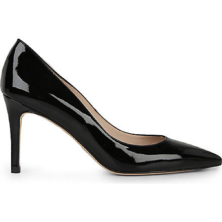 LK BENNETT Florete patent leather courts (Black