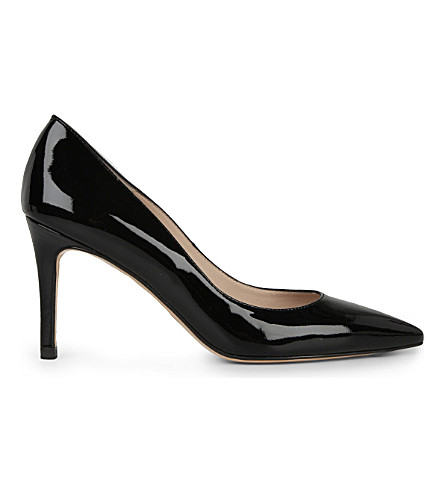 LK BENNETT Florete patent-leather courts (Black