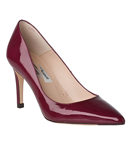 LK BENNETT Florete patent leather courts (Pin-cerise