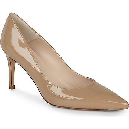 LK BENNETT Florete patent leather courts (Taupe