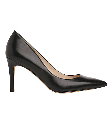 LK BENNETT Floret pointed leather courts (Bla-black