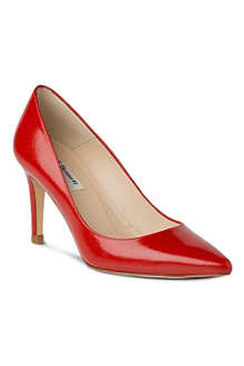 LK BENNETT Floret saffiano patent leather court shoes