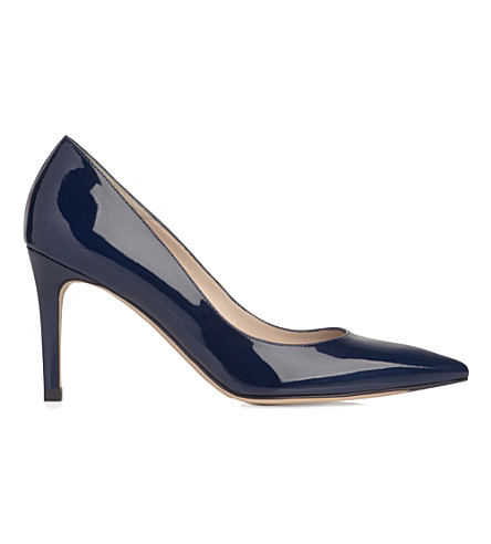 LK BENNETT Floret patent leather courts (Blu-navy