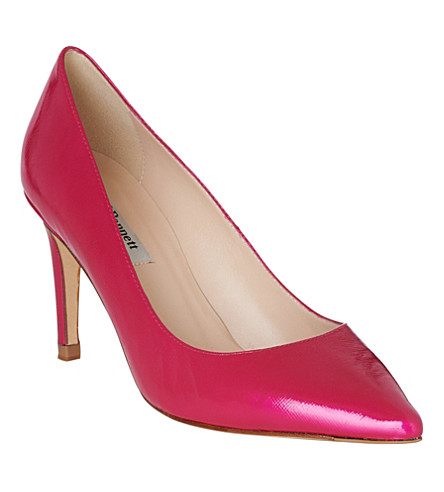 LK BENNETT Floret patent leather courts (Pin-fuchsia