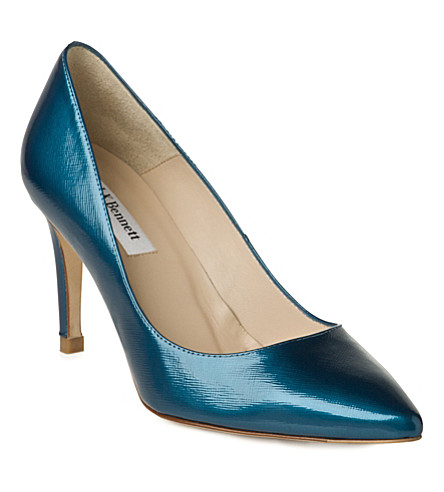 LK BENNETT Floret patent leather courts (Blu-royal