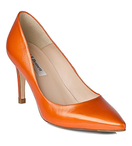 LK BENNETT Floret leather courts (Ora-tangerine