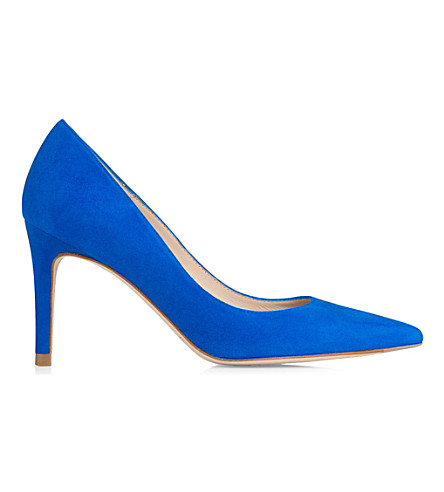 LK BENNETT Floret leather courts (Blu-majorelle