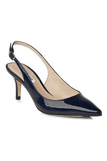 LK BENNETT Florita patent leather slingback courts
