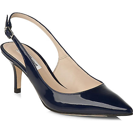 LK BENNETT Florita patent leather slingback courts (Blu-navy