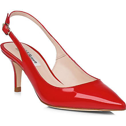 LK BENNETT Florita patent leather slingback courts (Red-red