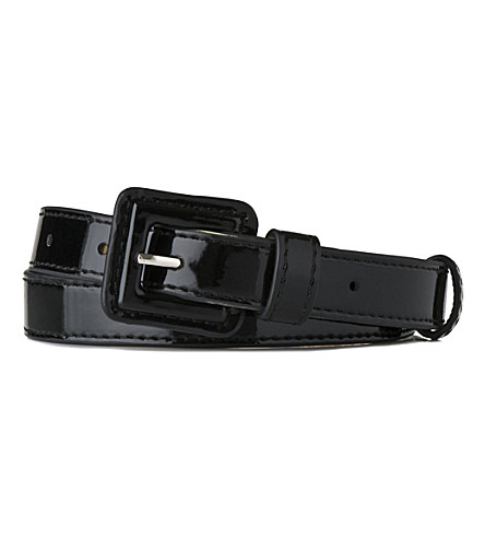 LK BENNETT Genevra skinny belt (Bla-black
