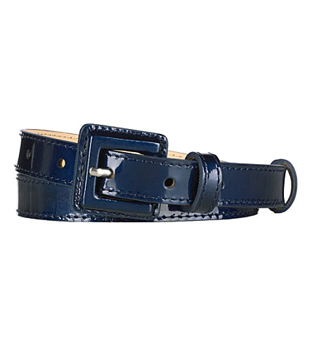 LK BENNETT Genevra skinny belt (Blu-navy