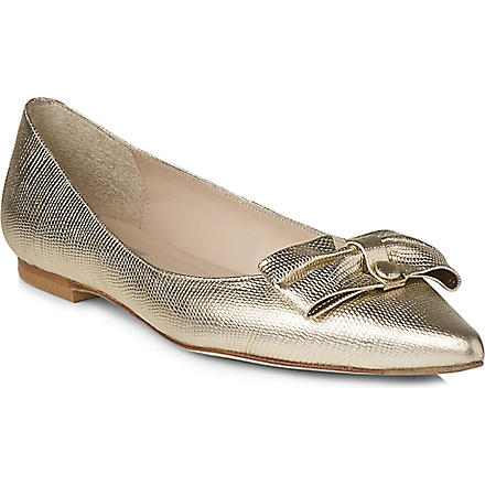 LK BENNETT Irani metallic leather pumps (Gol-soft+gold