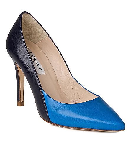 LK BENNETT Jennie leather courts (Blu-ink