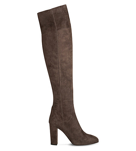 LK BENNETT Kaelynn suede over-the-knee boots (Gry-charcoal