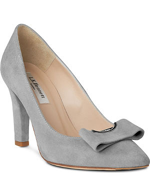 LK BENNETT Kareena suede court shoes