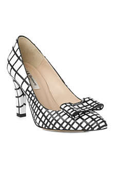LK BENNETT Kareena block heel court shoe