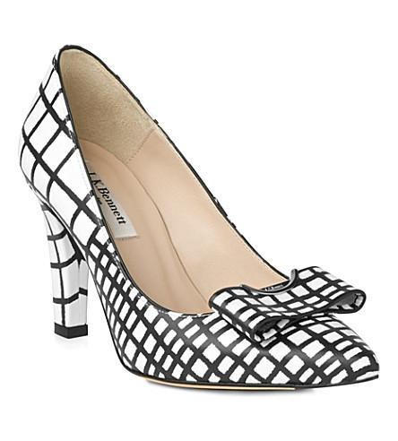 LK BENNETT Kareena block heel court shoe (Bla-white